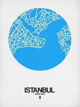 Istanbul Street Map Blue by NaxArt
