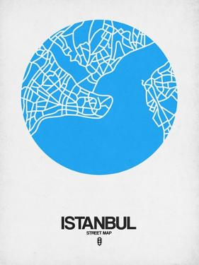 Istanbul Street Map Blue by NaxArt