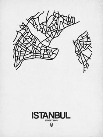 Istanbul Street Map White by NaxArt