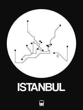 Istanbul White Subway Map by NaxArt