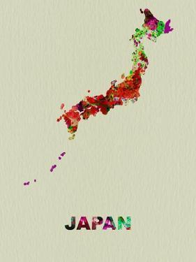 Japan Color Splatter Map by NaxArt