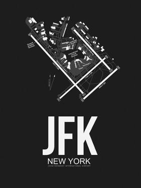 JFK New York Airport Black by NaxArt