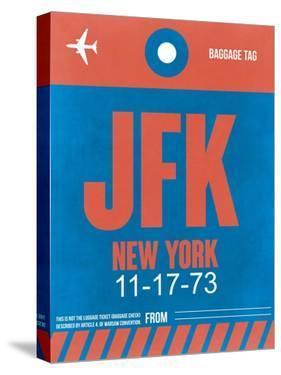 JFK New York Luggage Tag 1 by NaxArt