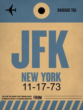 JFK New York Luggage Tag 2 by NaxArt