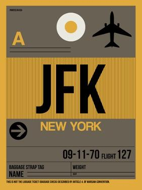 JFK New York Luggage Tag 3 by NaxArt