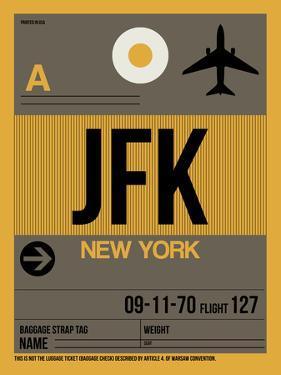 JFK New York Luggage Tag 3 by NaxArt