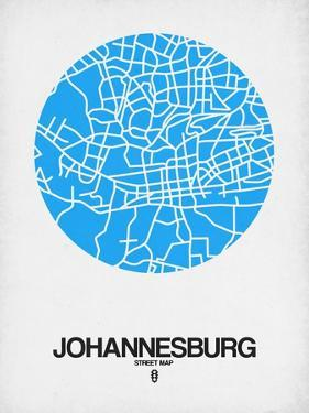 Johannesburg Street Map Blue by NaxArt