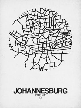 Johannesburg Street Map White by NaxArt