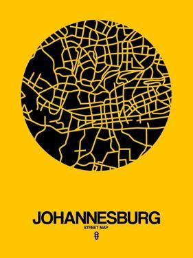 Johannesburg Street Map Yellow by NaxArt