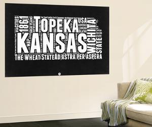 Kansas Black and White Map by NaxArt