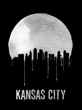 Kansas City Skyline Black by NaxArt