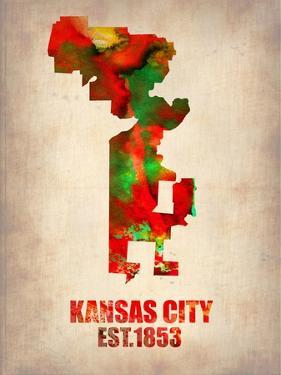 Kansas City Watercolor Map by NaxArt
