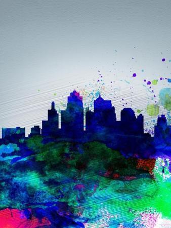 Kansas City Watercolor Skyline