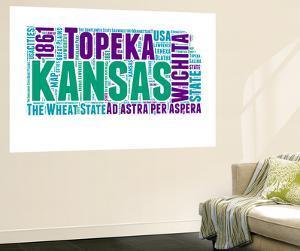 Kansas Word Cloud Map by NaxArt