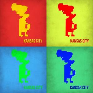 KansasCity Pop Art Map 1 by NaxArt