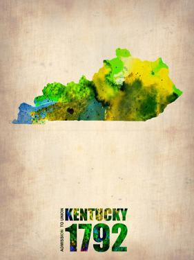 Kentucky Watercolor Map by NaxArt