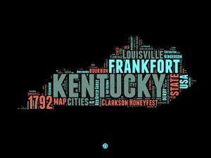 Kentucky Word Cloud 1 by NaxArt