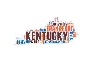 Kentucky Word Cloud Map by NaxArt