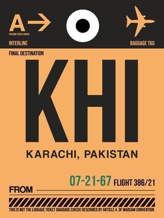 KHI Karachi Luggage Tag I