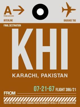 KHI Karachi Luggage Tag II by NaxArt