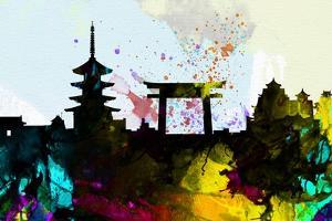 Kyoto City Skyline by NaxArt