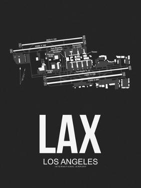 LAX Los Angeles Airport Black by NaxArt