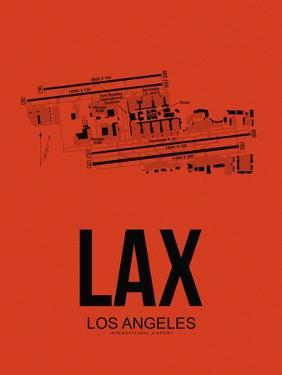 LAX Los Angeles Airport Orange by NaxArt