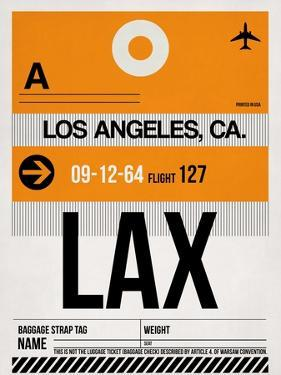 LAX Los Angeles Luggage Tag 2 by NaxArt