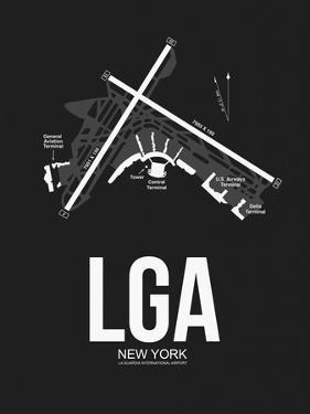 LGA New York Airport Black by NaxArt