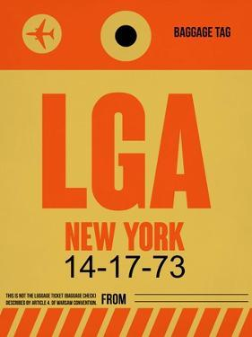 LGA New York Luggage Tag 1 by NaxArt