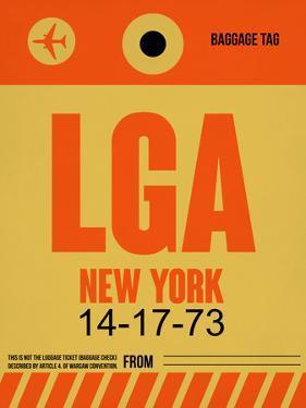LGA New York Luggage Tag 1 by NaxArt