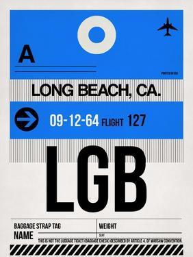 LGB Long Beach Luggage Tag I by NaxArt