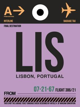 LIS Lisbon Luggage Tag I by NaxArt