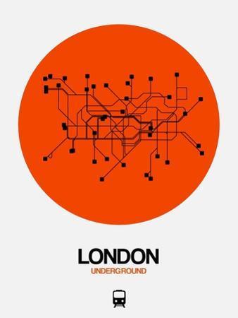 London Orange Subway Map by NaxArt
