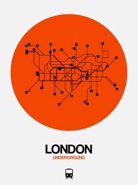 London Orange Subway Map by NaxArt