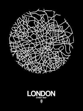 London Street Map Black by NaxArt