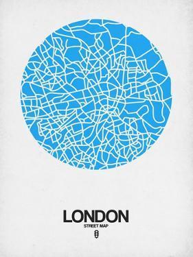 London Street Map Blue by NaxArt