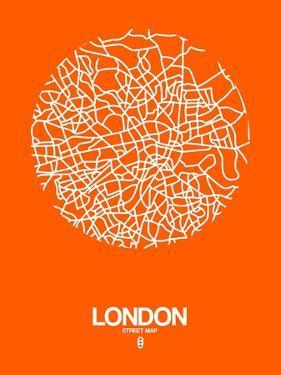 London Street Map Orange by NaxArt