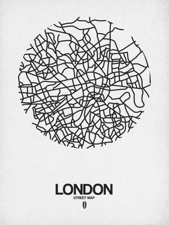 London Street Map White by NaxArt
