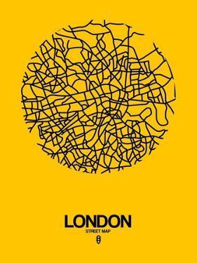 London Street Map Yellow by NaxArt