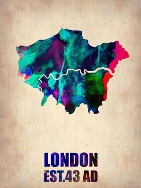 London Watercolor Poster by NaxArt