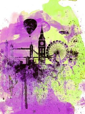 London Watercolor Skyline 1 by NaxArt