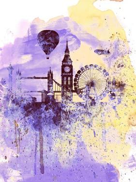 London Watercolor Skyline by NaxArt