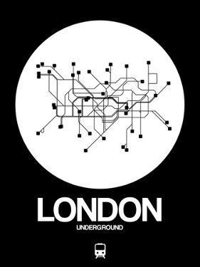 London White Subway Map by NaxArt