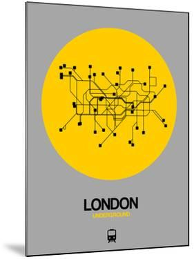 London Yellow Subway Map by NaxArt