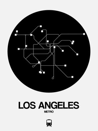 Los Angeles Black Subway Map by NaxArt