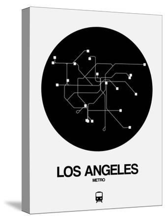 Los Angeles Black Subway Map by NaxArt