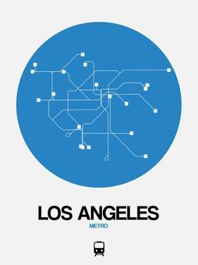 Los Angeles Blue Subway Map by NaxArt