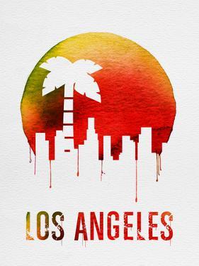 Los Angeles Landmark Red by NaxArt