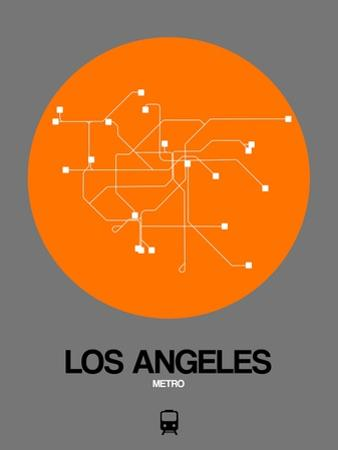 Los Angeles Orange Subway Map by NaxArt